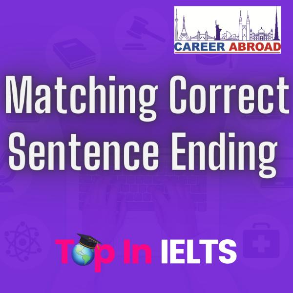 Matching Correct Sentence Ending