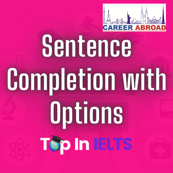 Sentence Completion with Option